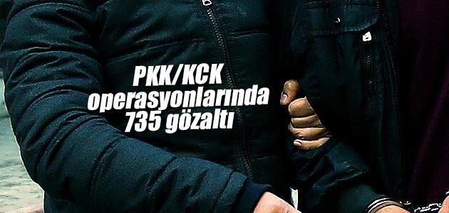 735 şüpheliye PKK gözaltısı