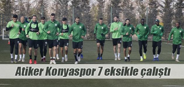 Atiker Konyaspor 7 eksikle çalıştı